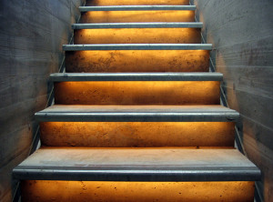 stairs golden by Hans Brinker