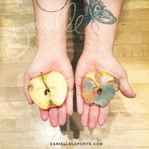 """good"" apple, ""bad"" apple from Danielle La Porte's page"