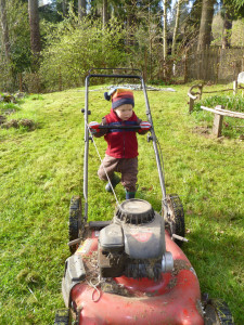 He used to drive it back and forth across the lawn for fun, (not on of course).