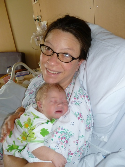 Mama Aimee Cartier and newborn Xylus
